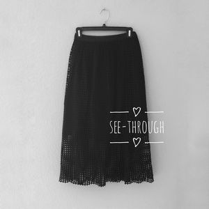 Dresses & Skirts - See-through maxi skirt with elastic waist