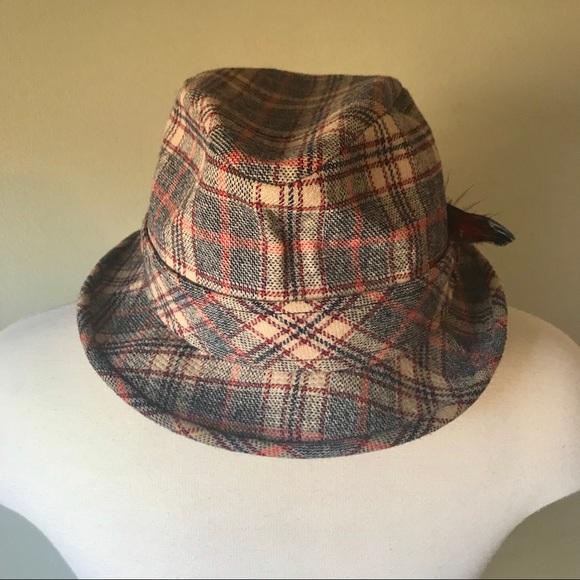 fe01928ac Vintage Pendleton Plaid Fedora Hat