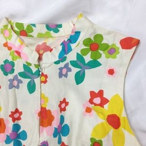 Vintage Floral Sleeveless Maxi Zip Dress