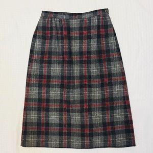 🎄(Vintage) 1980s Pendleton High Waist Wool Skirt