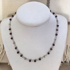 SALE Silpada 925 Garnet Bead Necklace