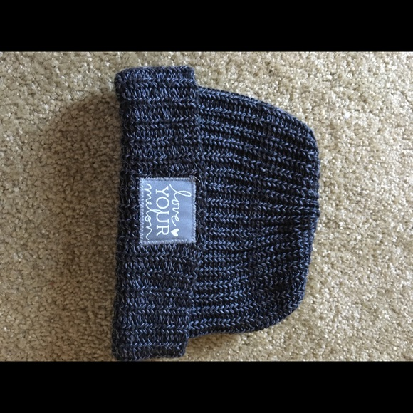 b9af43388e4 love your melon Accessories - Love your melon Black n grey fold over beanie