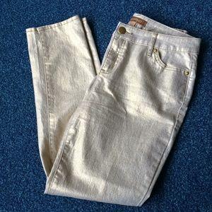 Golden jeans-By Ellen Tracy Sz4 Perfect party wear