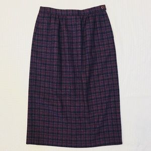 (Vintage) 1990s Pendleton High Waisted Wool Skirt