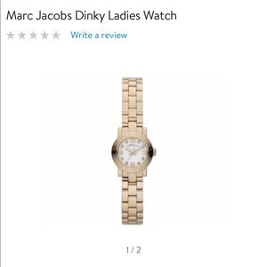 Marc Jacobs Henry Dinky gold watch