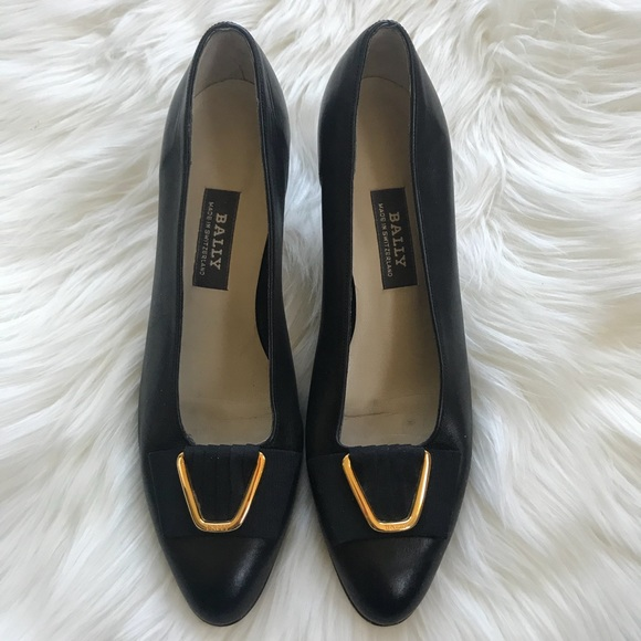 615524b83ce Bally Shoes - Bally Women s Black Leather Pumps Size 7