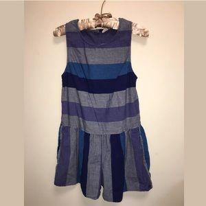 Roxy romper size small striped blue