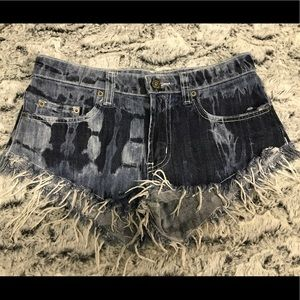 Carmar LF acid wash cutoff short shorts
