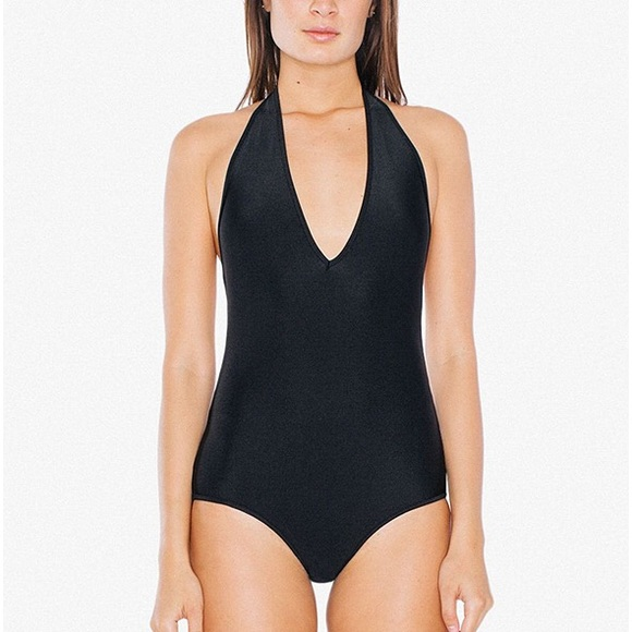 American Apparel Halter One Piece Swimsuit by American Apparel
