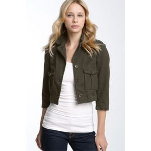 James Peres Cropped Military Jacket