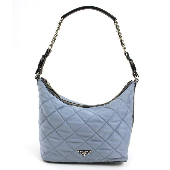 8d9e04bc7fef Prada RARE Blue Quilted Semitracolla Hobo Handbag.  M 5a1dc80f2de5122000125b72