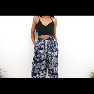 Indie Soul – Vintage Patterned Pant Skirt