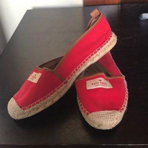 Kate Spade red espadrilles size 8