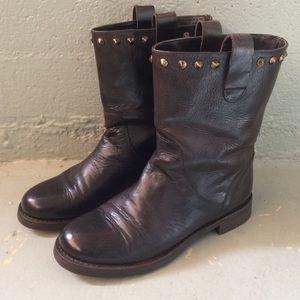 Italian Leather Moto Boots