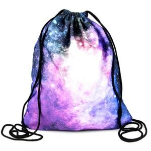 Handbags - UNISEX GALAXY PINK DRAWSTRING BAG