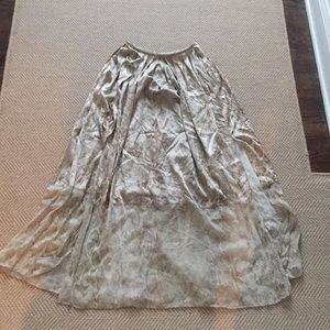 Elie Tahari Snakeskin Silk Maxi Skirt Sz 0