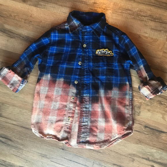 Other - Boys Grunge flannel size 4/5