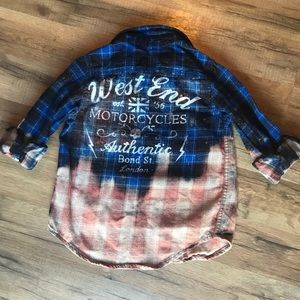 Shirts & Tops - Boys Grunge flannel size 4/5