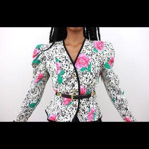 Floral Composition # 5-VINTAGE Blazer