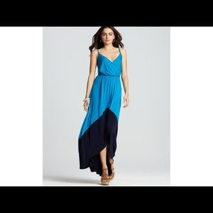$189 NEW Michael Stars Hi Low Color Block Maxi NWT