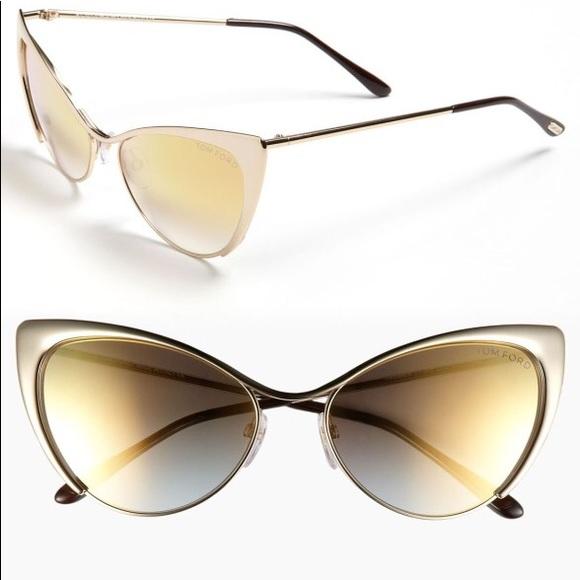 861815443b4a AUTHENTIC Tom Ford Nastasya gold sunglasses