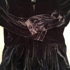 Velvet jacket.  Purple/silver