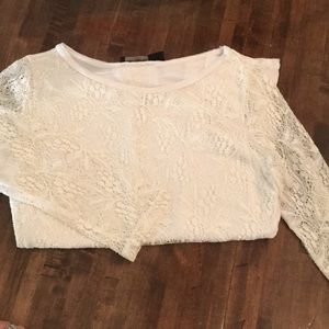 Limited long-sleeved lace top