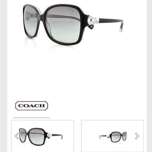 73df0530f9 Coach Accessories - 😎 COACH LD BLACK SILVER FRANCES SUNGLASSES W CASE