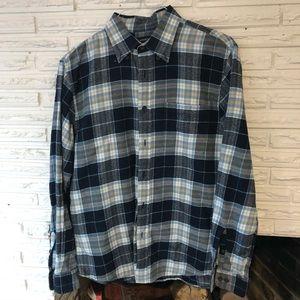 Lands end men's button down flannel shirt