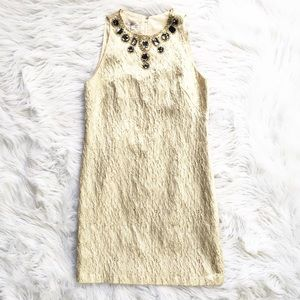 NWT Maggy London gold brocade embellished dress
