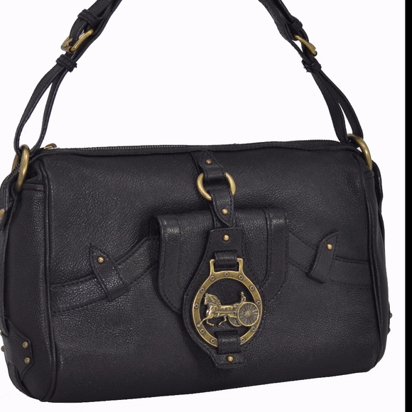 a85ca7983a97 Celine Bags | Nwot Black Leather Horse Carriage Handbag | Poshmark