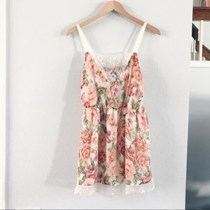 Torrid Floral And Lace Cami Blouse Plus Size 3