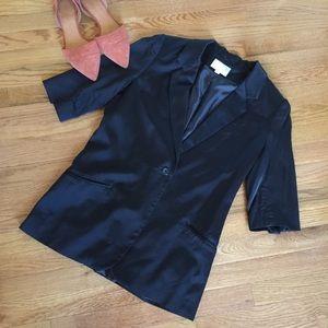 Elizabeth and James black stain blazer jacket