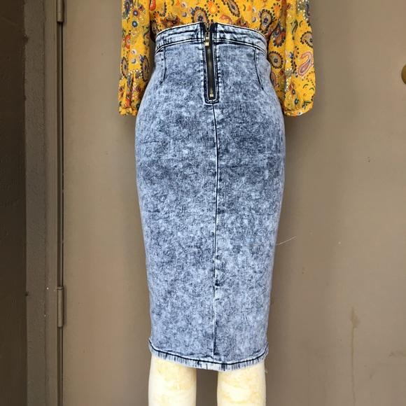 d236d4ee9e iris jeans Dresses & Skirts - Iris Jeans Acid Wash Stretch Denim Pencil  Skirt