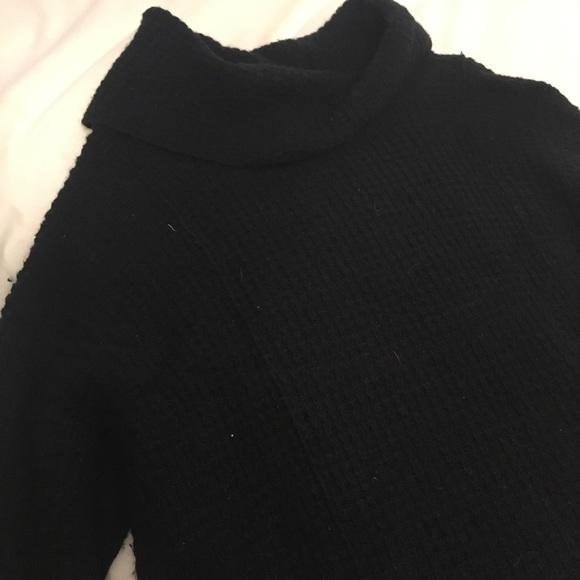 41% off Free People Sweaters - Free People black knit turtleneck ...
