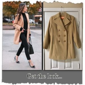 Unlisted Kenneth Cole Production Camel Wool Coat