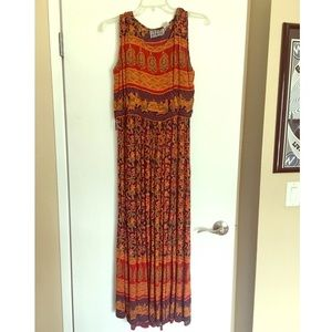 Vintage Maxi Boho Dress