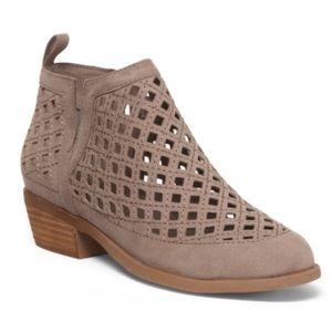 CARLOS SANTANA Perforated Side Slit Ankle Booties