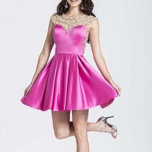 ASHLEY Lauren fuchsia cocktail dress style 4027