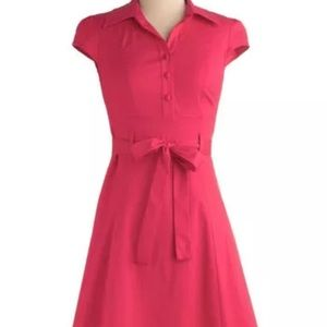 ModCloth Soda Fountain red cherry retro dress s
