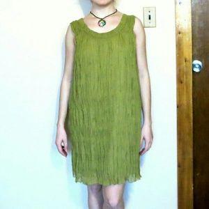 NWOT Medium Green Midi Dress