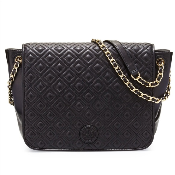49b7c70cb79e NWT Tory Burch Marion Quilted Flap Shoulder Bag