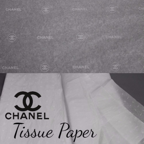 Chanel other authentic logo wrap 20 sheets tissue paper for Authentic chanel logo t shirt