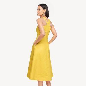 Ann Taylor Dresses - NWT Ann Taylor yellow halter midi dress