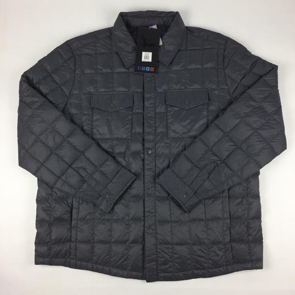 Mens Lightweight Packable Down Shirt Jacket Hawke /& Co