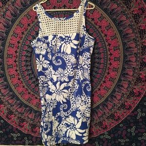 SALE blue and white lilly pulitzer shift dress