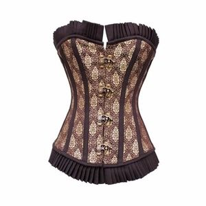 Other - Steampunk Steel Boned Brocade Corset