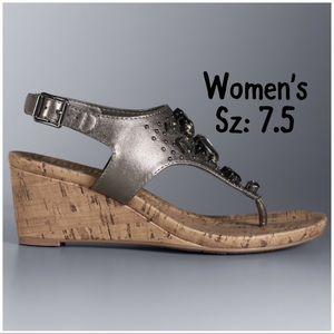 💫NIB☃️Winter Womens VeraWang Betty Wedges Sz: 7.5