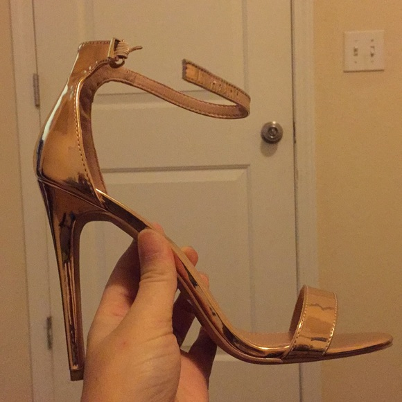 Charlotte Russe Shoes - Charlotte russe gold heels