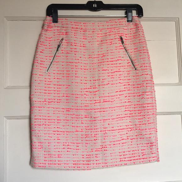 5df054baf8 Halogen Skirts | Tweed Skirt Pink Cream 4 Petite | Poshmark